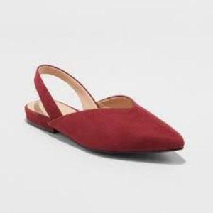 Pam V Throat Sling Back Mules Burgundy A New Day